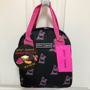🐶 NWT Betsey Johnson Insulated Lunch Tote DOGS